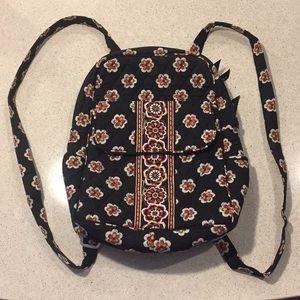 Vera Bradley black print, small backpack purse